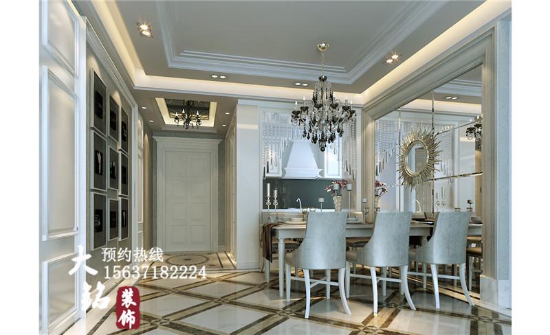欧式 80后 三居 小资 简欧设计 餐厅图片来自凤羽飞sun在124平方米简欧设计案例的分享