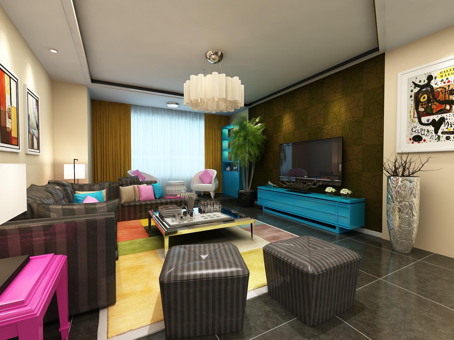 客厅图片来自广州实创装饰朱建芳在深业.江悦湾160平简约风格的分享
