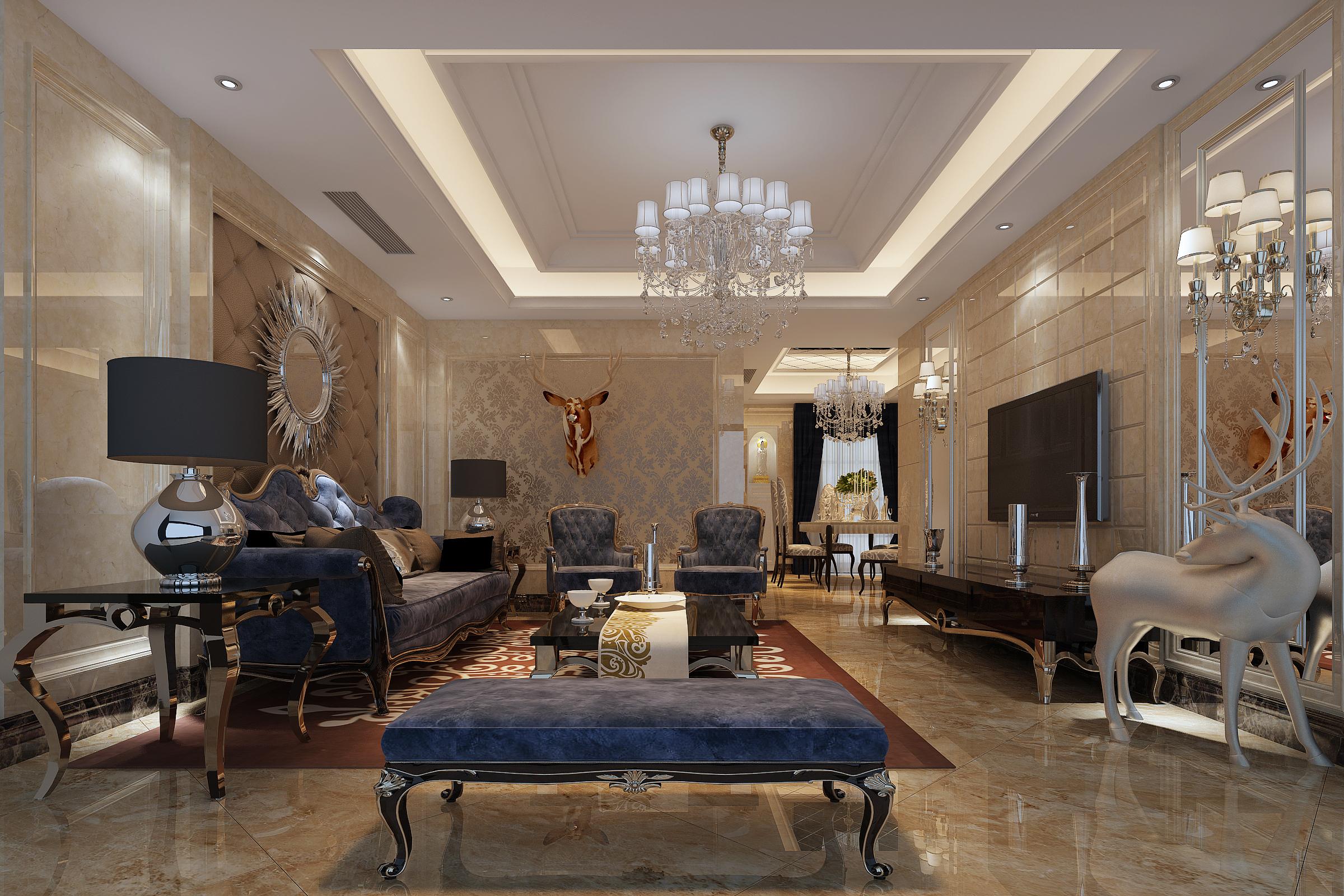 客厅图片来自有家装饰费欢在公园道1号欧式风格的分享