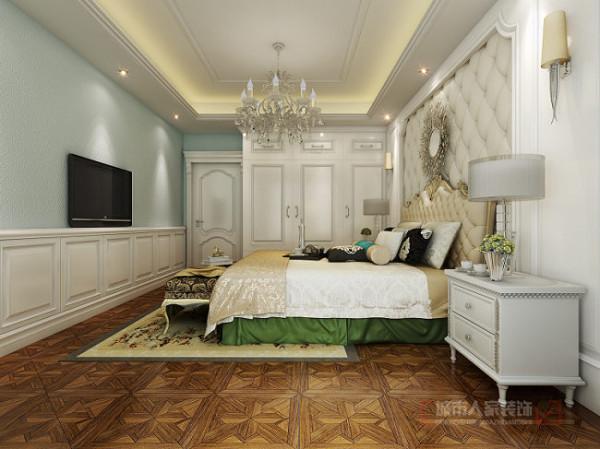 华侨城天鹅堡150平米欧式装修 卧室