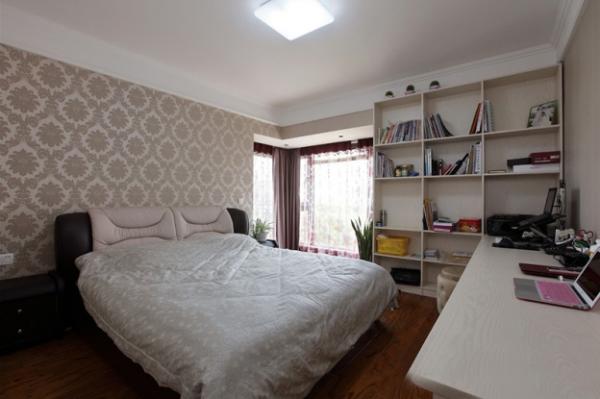 中登悦园现代风格三居室卧室效果图