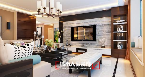 湖滨文锦苑200平米现代简约四居室装修设计