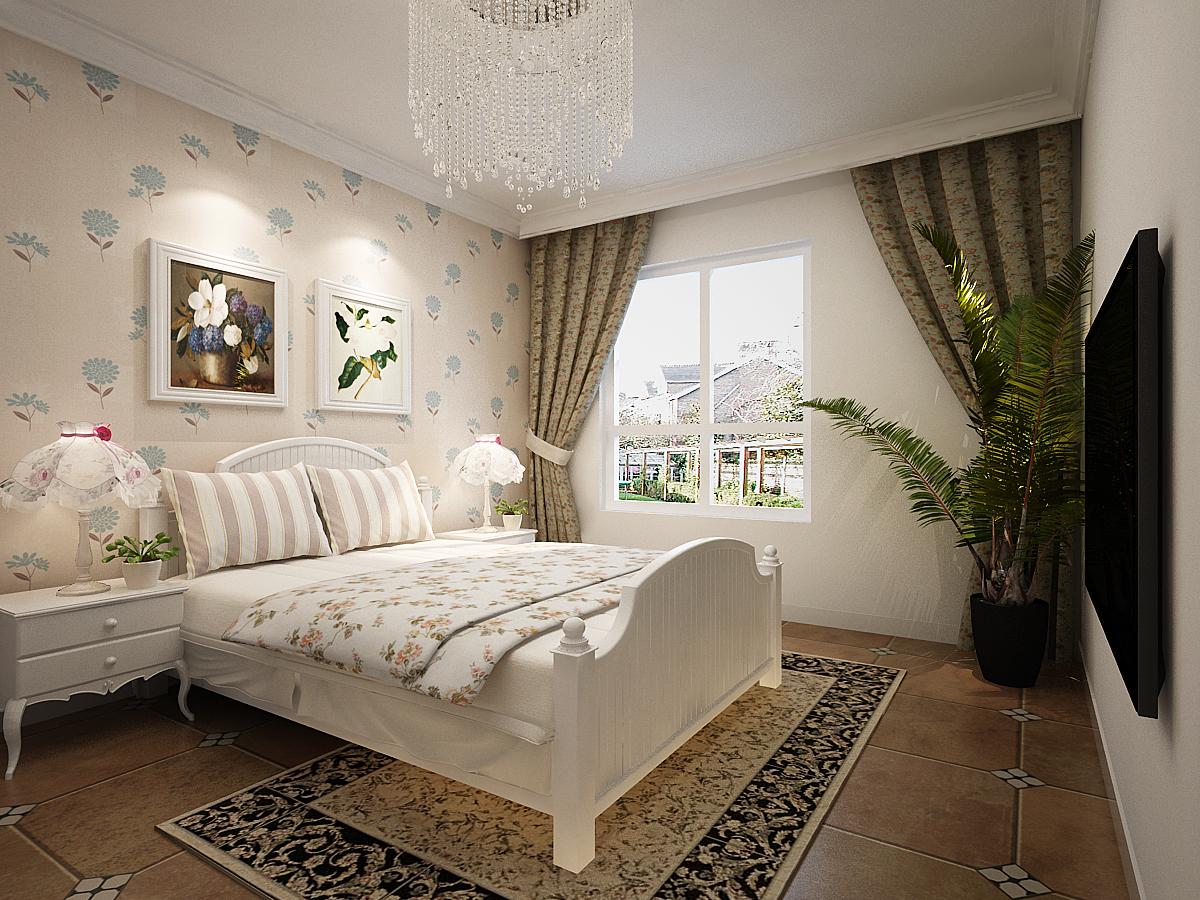 卧室图片来自广州实创装饰朱建芳在80平法式田园两居, 清新的分享