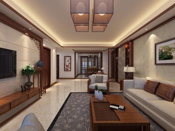 客厅-- 客厅作为整个装修效果的重中之重的一个空间,新中式风格是中国传统风格文化意义在当前时代背景下的演绎;是对中国当代文化充分理解基础上的当代设计。