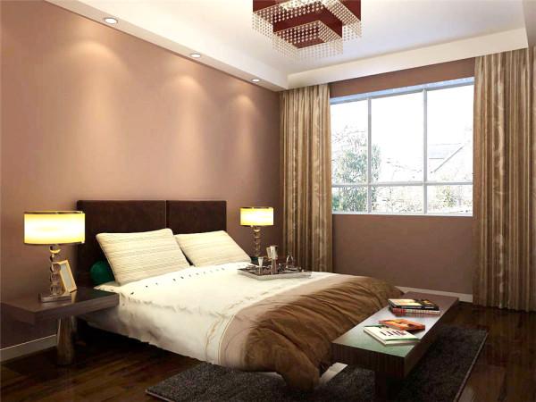 卧室的墙面采用暖色乳胶漆,不同于之前的白墙,让卧室又多了一份安静与温馨,更加能提高业主的睡眠质量。