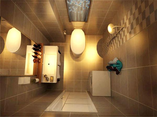 卫生间瓷砖主要以亚光砖为主,主要是以好打理为出发点,与之前的亮砖相比,亚光砖基本没有水印,同时又在花洒后面加了一组花片,这样又体现了主次分明的视觉效果。