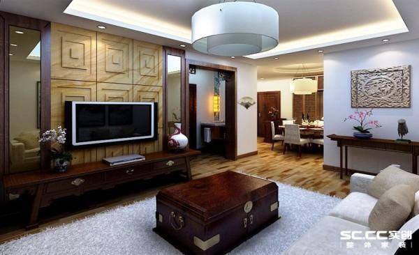 家具、装饰品及黑、红为主的装饰色彩
