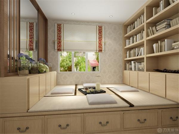 主卧室整个墙面为淡蓝色乳胶漆,搭配白色的门和床卧家具,显得格外干净,飘窗也改造成休闲区域,增加了业主的活动空间,视觉上也拉大了整体面积。