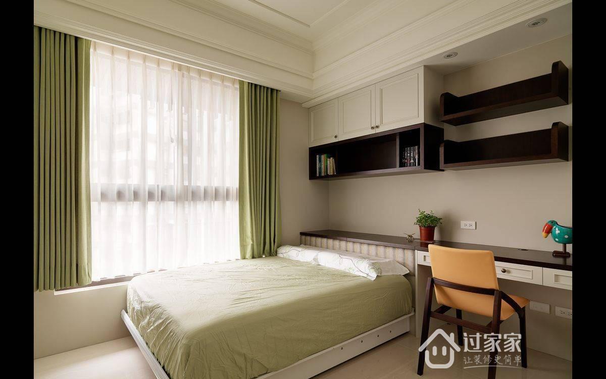 美式 旧房改造 小资 收纳 卧室图片来自过家家装饰在116平美式四居优雅生活风格案例的分享