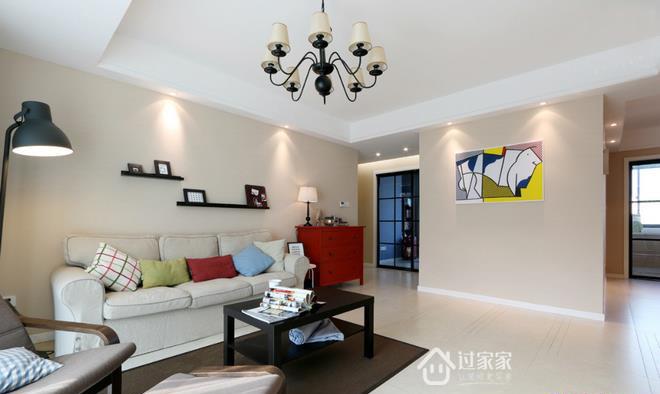 三居 80后 小资 客厅图片来自过家家装饰在三室两厅简约风格 干净小清新的分享