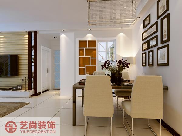 紫荆尚都 87平方 两室两厅 装修案例 样板间 餐厅图片来自艺尚设计在紫荆尚都87平方两室装修设计案例的分享