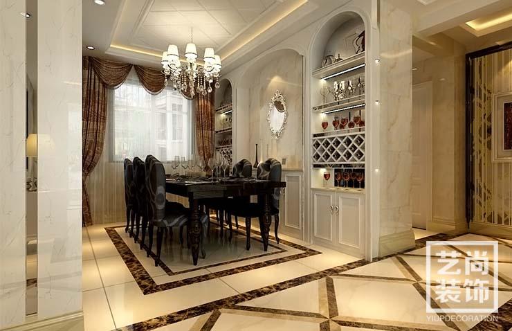 五月花城 四室两厅 175平方 装修案例 样板间 餐厅图片来自艺尚设计在永威五月花城175平方四室装修的分享