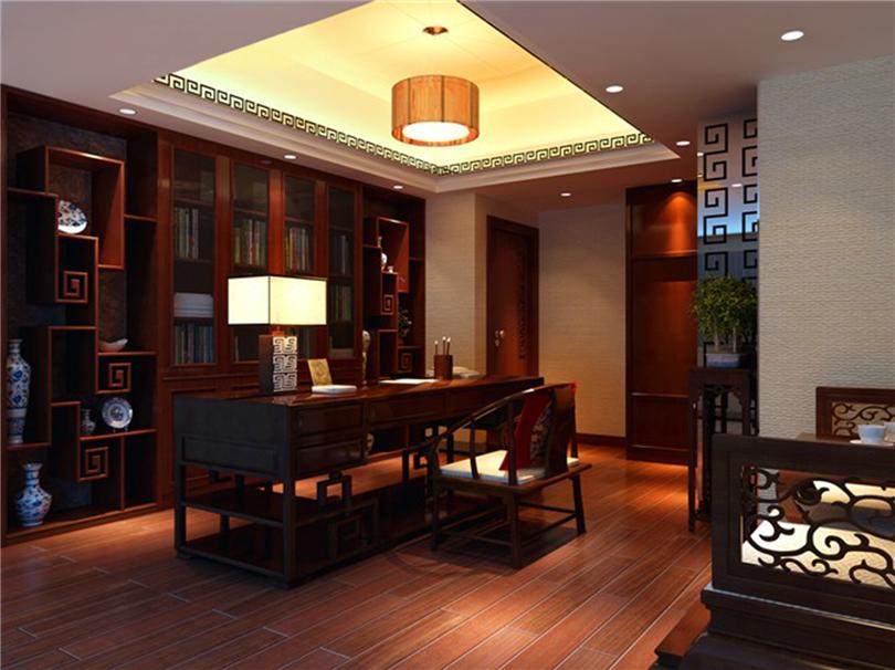 白领 收纳 80后 小资 书房图片来自实创装饰完美家装在星河城三期160平四居新中式风的分享