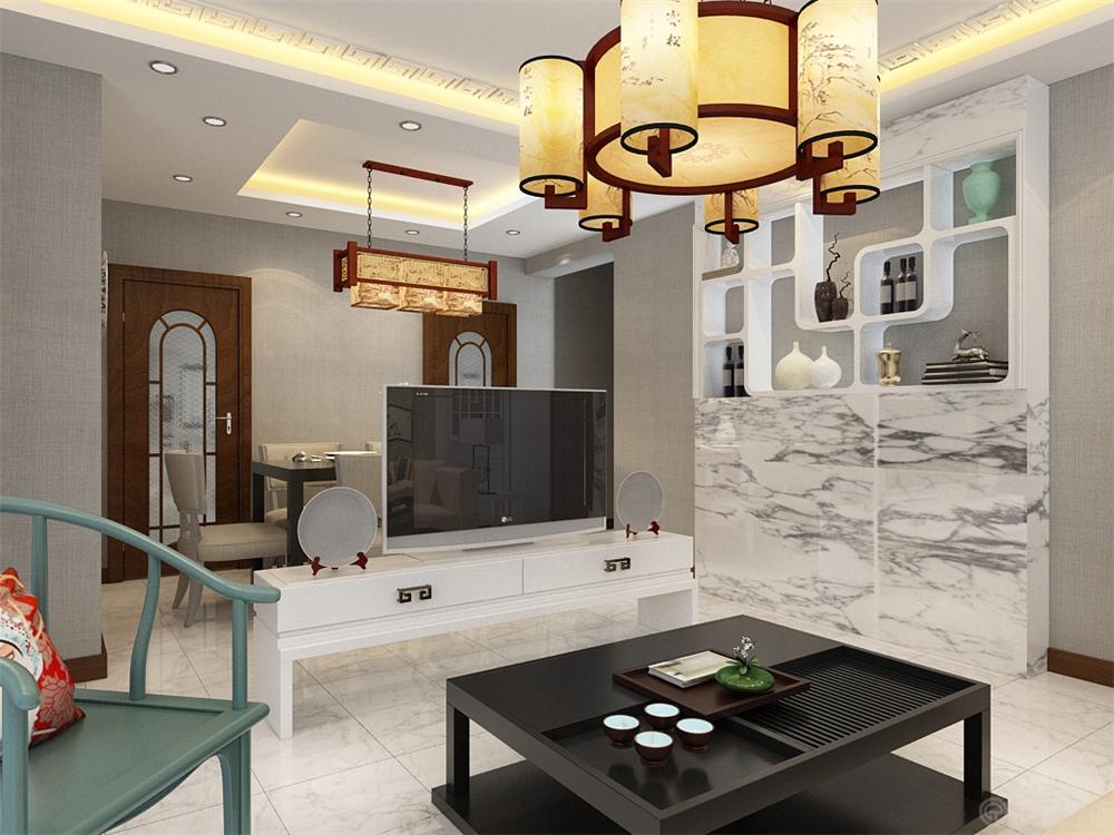 二居 小资 80后 白领 客厅图片来自阳光力天装饰糖宝儿在中式风格 | 摩卡假日 90㎡两居的分享