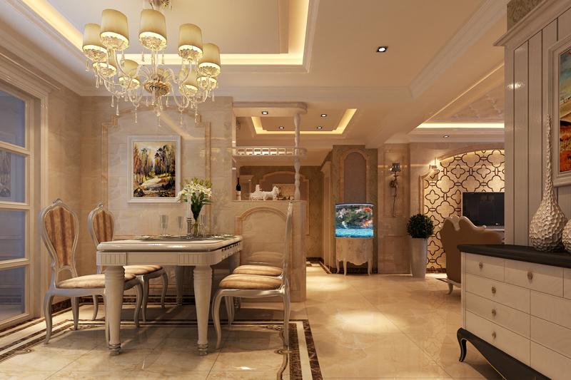 流星花园 生活家装饰 三居 白领 餐厅图片来自北京生活家装饰工程有限公司在流星花园140平米三居欧式风格的分享