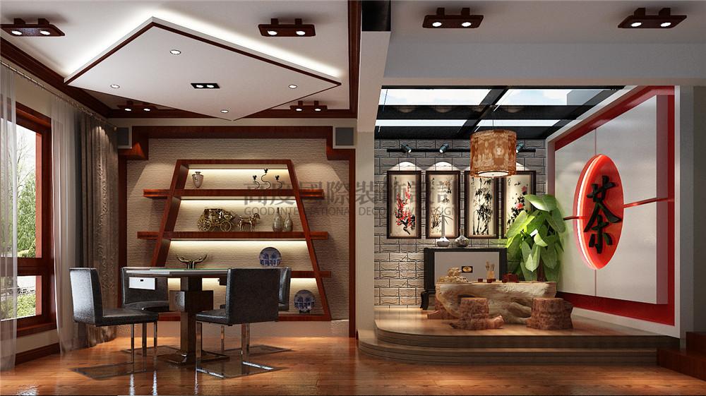 新中式风格 装修风格 别墅装修 设计方案 餐厅图片来自成都高度国际在【高清】天溪园  现代中式风的分享