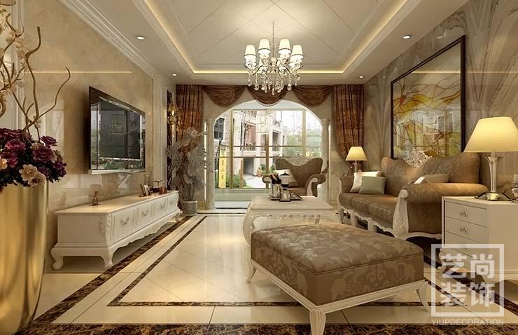 五月花城 四室两厅 175平方 装修案例 样板间 客厅图片来自艺尚设计在永威五月花城175平方四室装修的分享