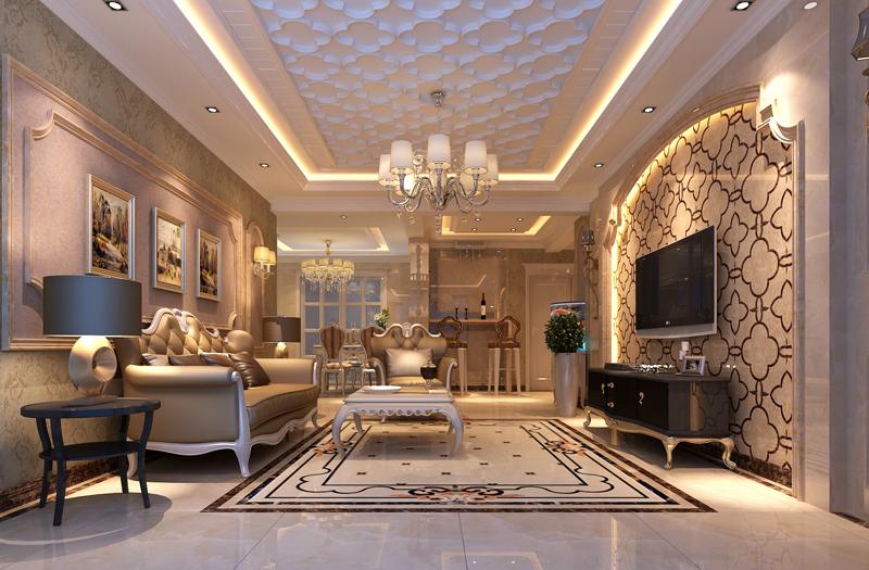 流星花园 生活家装饰 三居 白领 客厅图片来自北京生活家装饰工程有限公司在流星花园140平米三居欧式风格的分享