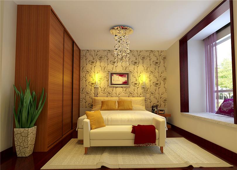 简约 二居 白领 收纳 80后 小资 卧室图片来自实创装饰完美家装在靓景明居80平二居现代风格赏析的分享