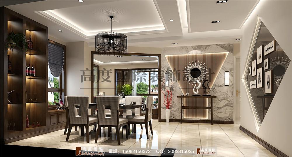 高度国际 成都装修 新房装修 别墅装饰 餐厅图片来自成都高端别墅装修瑞瑞在格调时尚风案例.高度国际装饰的分享