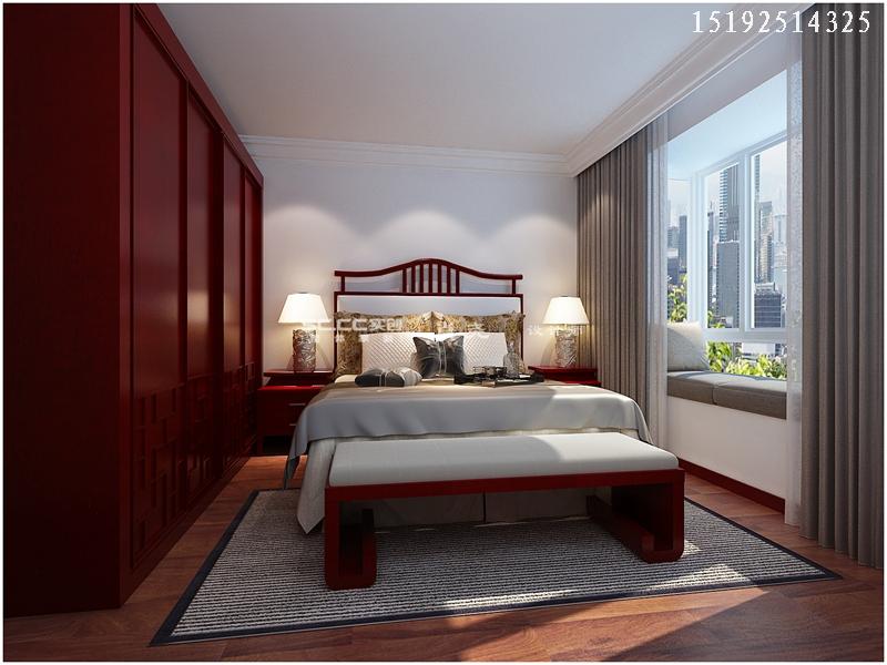三居 中式 小资 收纳 卧室图片来自快乐彩在晓港名城中式装修设计实创装饰的分享