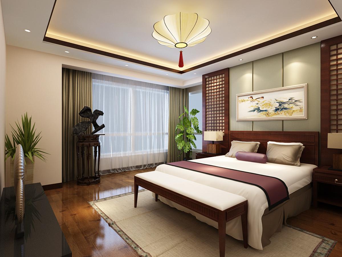 卧室图片来自广州实创装饰朱建芳在东城华庭150平新中式风格的分享