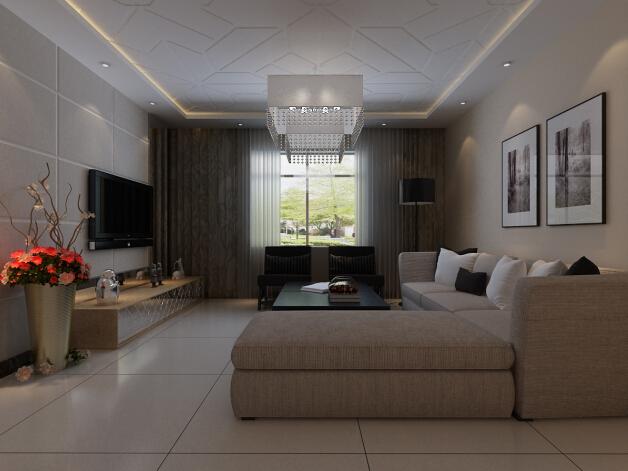 恒通新城 现代 复式 效果图 客厅图片来自张樂在恒通新城 现代简约风格 复式装修的分享
