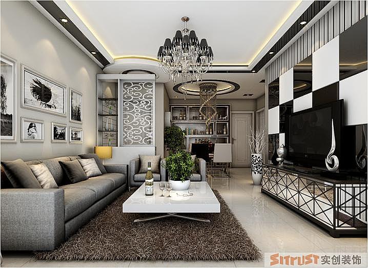 客厅图片来自张樂在银基王朝 三居 后现代风格装修的分享