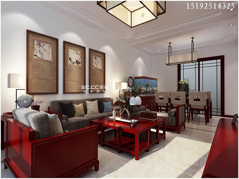 三居 中式 小资 收纳 客厅图片来自快乐彩在晓港名城中式装修设计实创装饰的分享