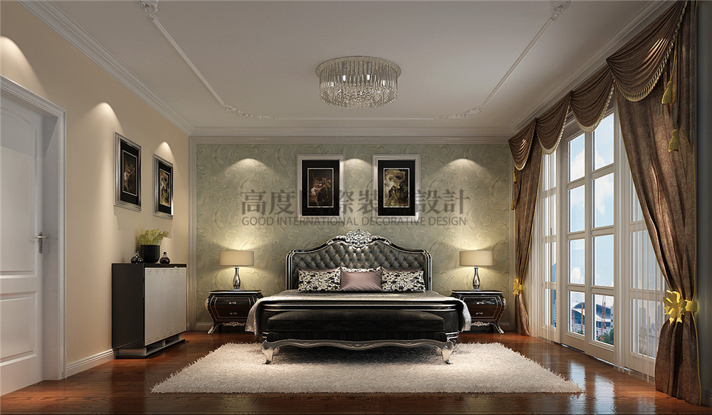新中式风格 装修风格 别墅装修 设计方案 卧室图片来自成都高度国际在【高清】天溪园  现代中式风的分享
