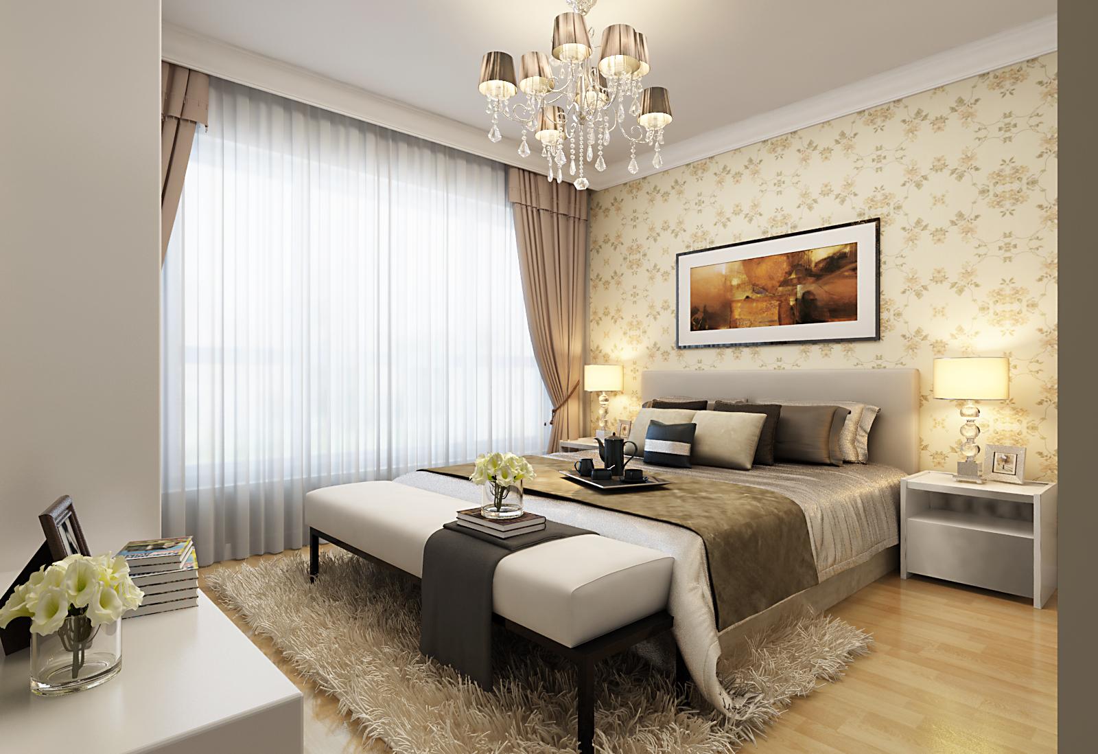 卧室图片来自广州实创装饰朱建芳在珠江御景湾144平现代简约风格的分享