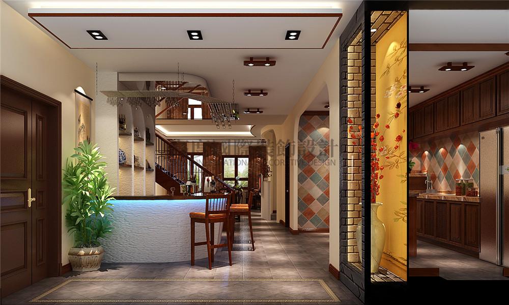 新中式风格 装修风格 别墅装修 设计方案 客厅图片来自成都高度国际在【高清】天溪园  现代中式风的分享