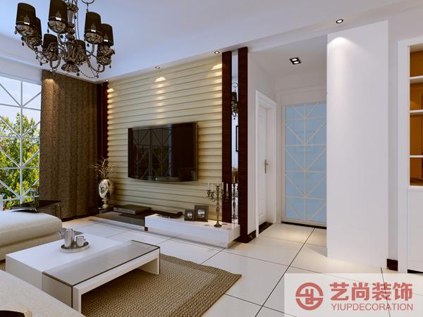 紫荆尚都 87平方 两室两厅 装修案例 样板间 客厅图片来自艺尚设计在紫荆尚都87平方两室装修设计案例的分享