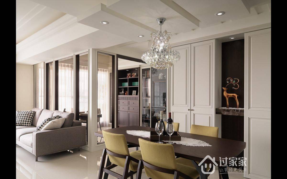 美式 旧房改造 小资 收纳 餐厅图片来自过家家装饰在116平美式四居优雅生活风格案例的分享