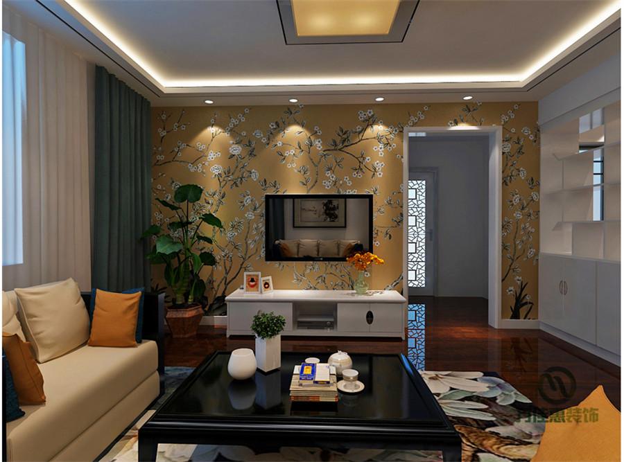 简约 二居 收纳 小资 客厅图片来自万泰小宅花在名辉豪庭91平新中式的分享