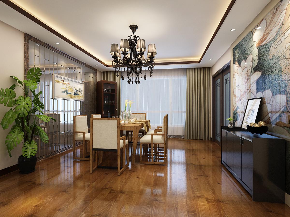 餐厅图片来自广州实创装饰朱建芳在东城华庭150平新中式风格的分享