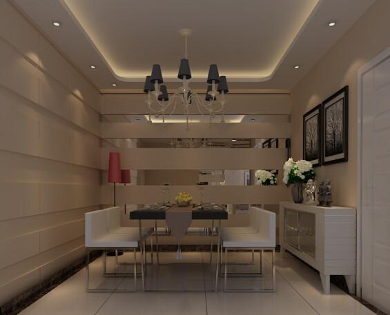 恒通新城 170平复式户型 装修设计案例 效果图-餐厅设计方案