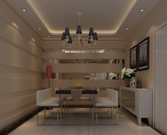 恒通新城 现代 复式 效果图 餐厅图片来自张樂在恒通新城 现代简约风格 复式装修的分享