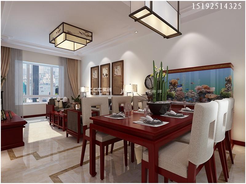 三居 中式 小资 收纳 餐厅图片来自快乐彩在晓港名城中式装修设计实创装饰的分享