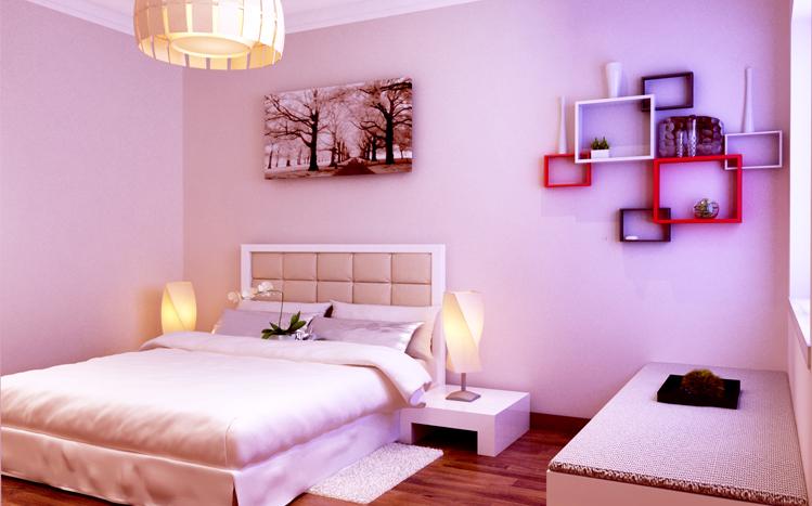旭日龙源 三居室 126平米 现代简约 装修设计 案例效果图 卧室图片来自郑州实创-整套家装在旭日龙源现代简约风格装修案例的分享