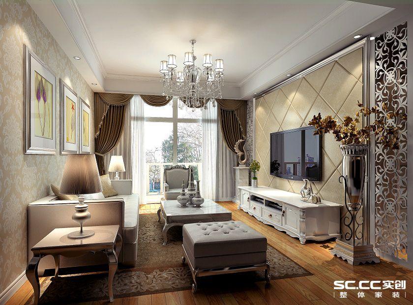 客厅图片来自用户2652703143在永恒理想公元105平欧式风格设计的分享