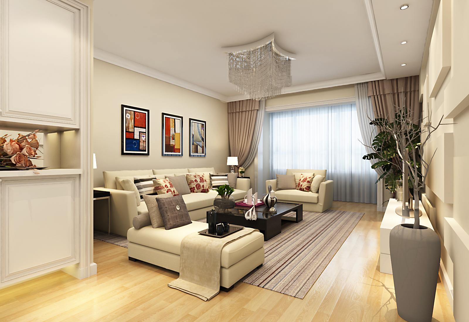 客厅图片来自广州实创装饰朱建芳在珠江御景湾144平现代简约风格的分享