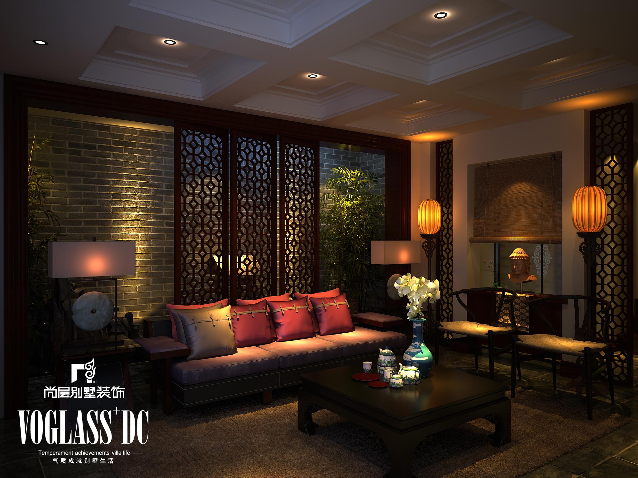 水木清华 中式古典风图片来自尚层装饰王奕钧在天津别墅装修设计的分享