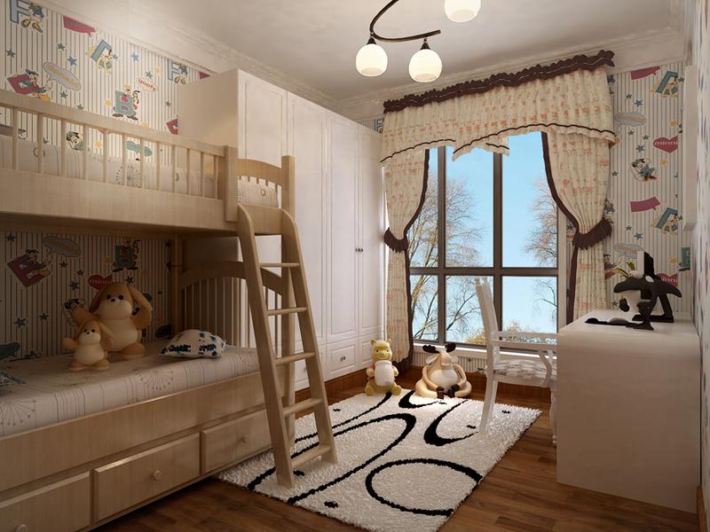 欧式 三居 装饰 装修 小资 儿童房图片来自业之峰在线服务的猫在西安业之峰装饰——龙城铭园的分享