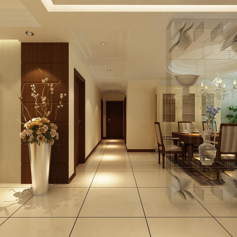 亚太花园 145平米 简约风格 装修设计案 四居室 玄关图片来自郑州实创-整套家装在亚太花园四居室简约风格的分享