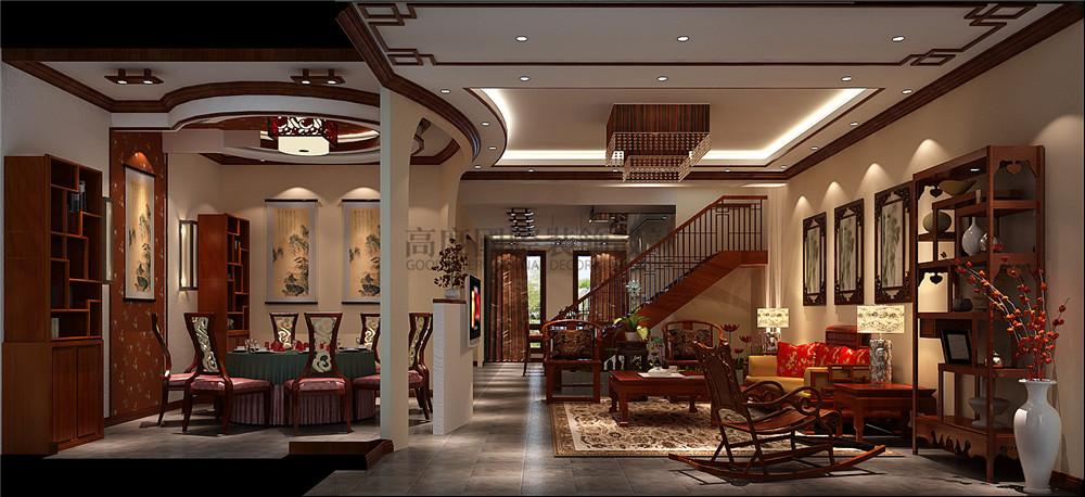 新中式风格 装修风格 别墅装修 设计方案 楼梯图片来自成都高度国际在【高清】天溪园  现代中式风的分享