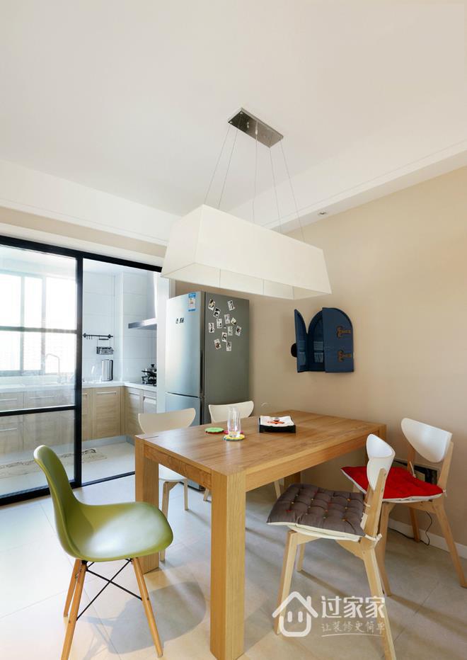 三居 80后 小资 餐厅图片来自过家家装饰在三室两厅简约风格 干净小清新的分享