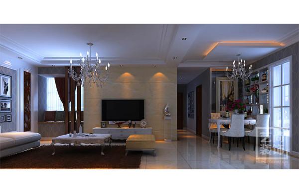 祝福红城装修89平方三室两厅装修效果图