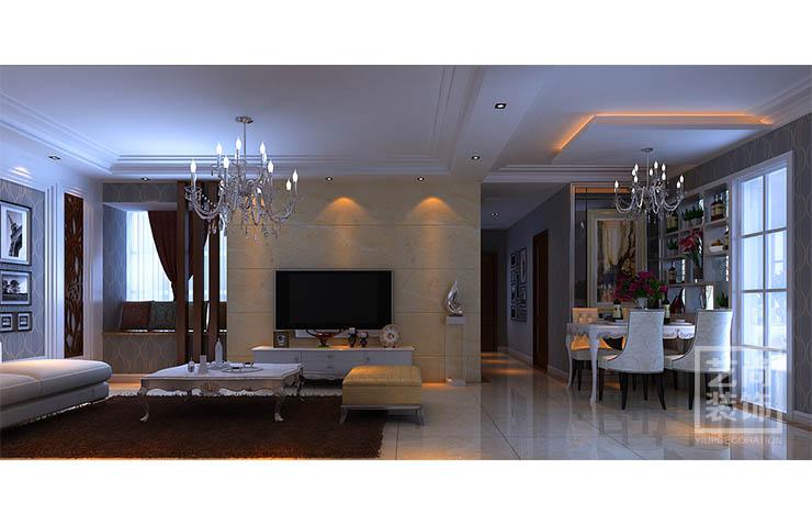 祝福红城 89平方 三室两厅 装修设计 装修案例 客厅图片来自艺尚设计在祝福红城89平方三室装修效果图的分享