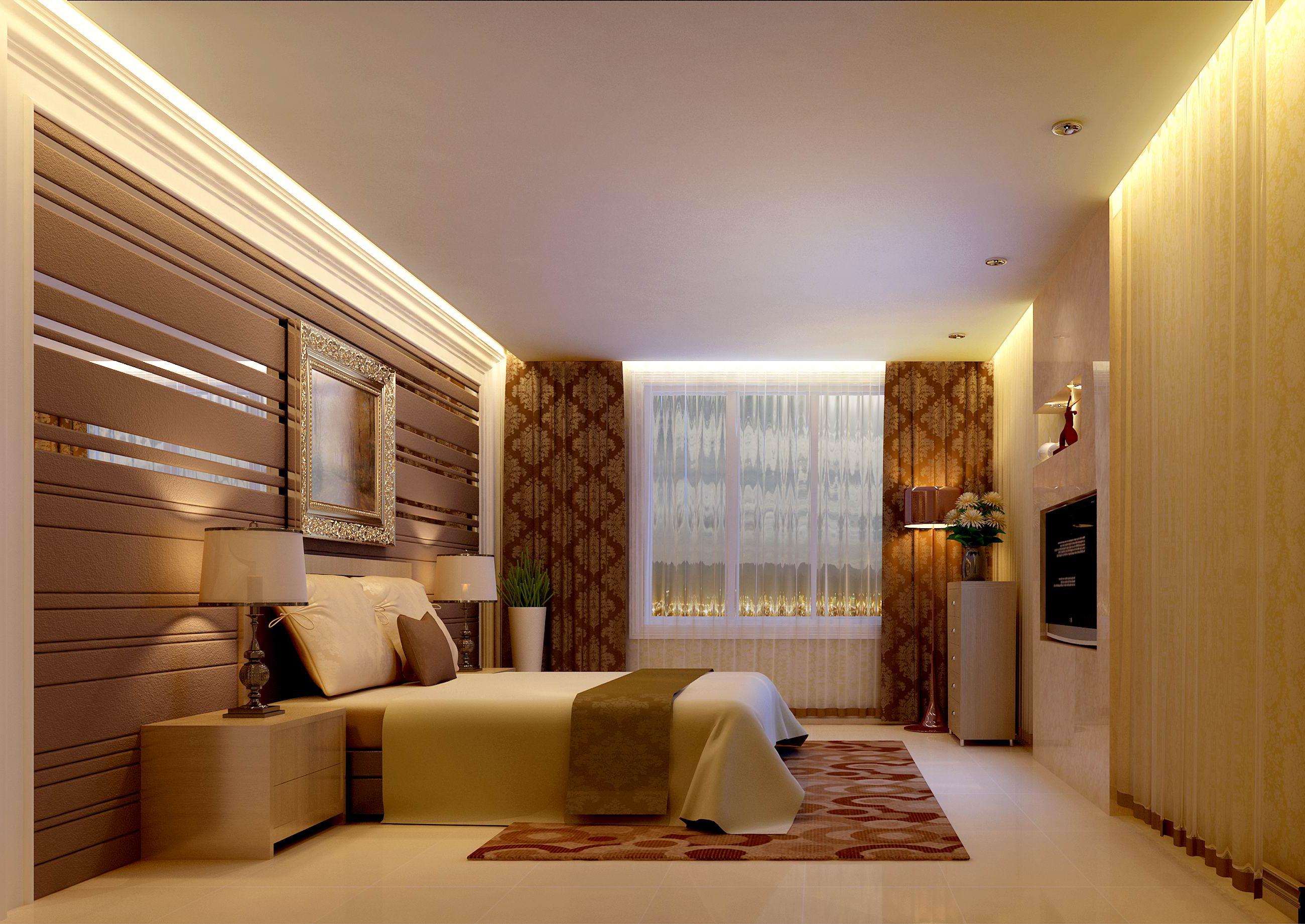 升龙国际 三居 现代 装修效果图 卧室图片来自夏曼在升龙国际中心小区三居 现代风格的分享